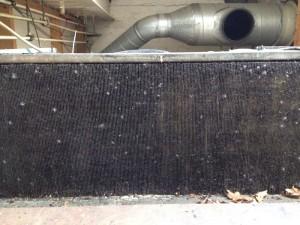 Coldroom condenser coil before
